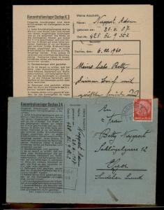 3rd Reich Germany Concentration Camp KL Dachau With Contents Cover 91681