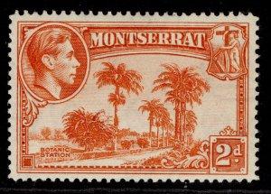 MONTSERRAT GVI SG104a, 2d orange, M MINT.