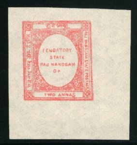 India-Nandgaon #2   Mint NH VF Big Margins 1892 PD