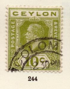 Ceylon 1921-32 Early Issue Fine Used 10c. 258963