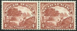 SOUTH AFRICA-1930-44 4d Brown Watermark Inverted Sg 46aw MOUNTED MINT V35323
