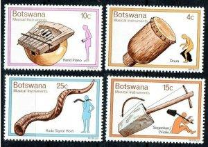 1976 Botswana 147-150 Musical instruments