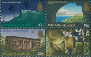 Pitcairn Islands 1969 SG101-104 Landing Cave House Flyingfox MNH