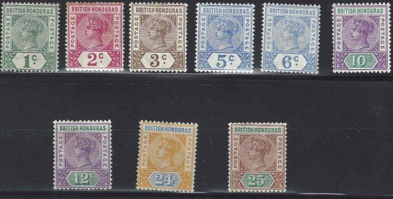 British Honduras 1891 SC 38-46 Mint SCV$ 166.00 Set