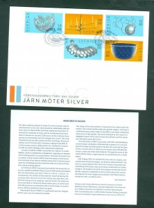 Sweden. FDC 2015. Iron Meets Silver.