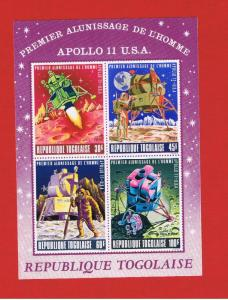 Togo #C108a MNH OG imperforate Apollo11 Souvenir Sheet Free S/H