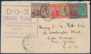 DO-X SPECIAL FLIGHT COVER TRINIDAD TO USA HV8816