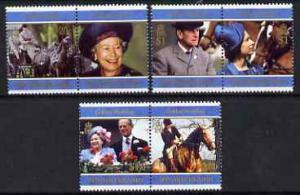 Pitcairn Islands 1997 Golden Wedding set of 6 in 3 se-ten...