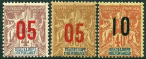 Guadeloupe 83-5 MH - Overprints