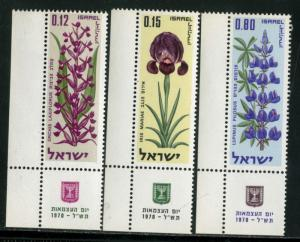 ISRAEL #414-415-416, MINT NH SET OF 3 STAMPS - 1970 - ISRAEL051