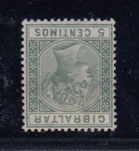 Gibraltar, SG 22w, used Inverted Watermark variety