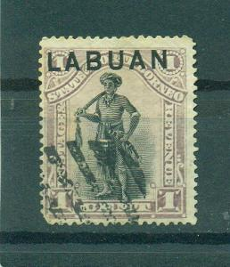 Labuan sc# 49 (1) used cat value $.70