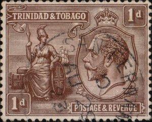TRINIDAD & TOBAGO 1923  SAN FERNANDO / TRINIDAD  index G ds on SG208 -Ref.830b