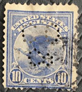 US #F1 Used Single Eagle Registration Stamp Perfin SCV $14.00 L31