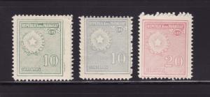 Paraguay 273, 275, 279 MNH National Emblem (A)