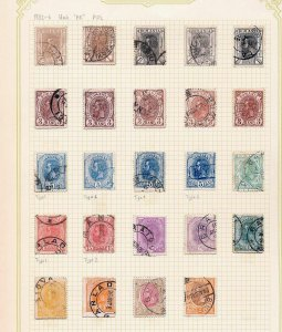 ROMANIA 1893/6 King Carol Used Incl Postmarks (Appx 200 Items) (Rom 07