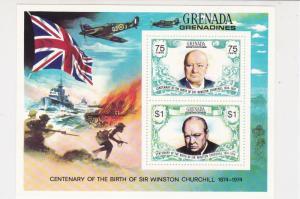 Grenada Sir Winston Churchill Centenary of Birth MNH Mini Stamps Sheet Ref 27106