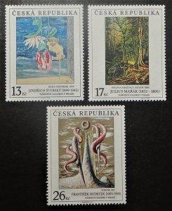 Czech Republic 3105-07. 1999 Paintings, NH