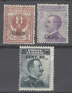 COLLECTION LOT # 2128 ITALY CASO 3 STAMPS 1912+