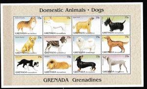 Grenada Grenadines - DOGS - S.S. - MNH