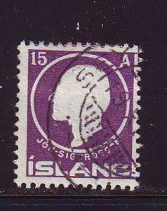 Iceland Sc90 1911 15 aur Jon Sigurdsson stamp used