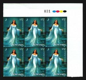 2003 Water Goddess Iemanja ethnic africa america tradition URUGUAY Block x6 MNH