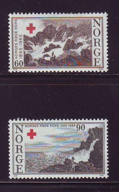 Norway Sc 473-4 1965 Red Cross stamps mint NH