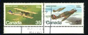 Can #876a   -2   pair     used VF 1980 PD