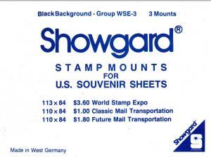 SHOWGARD BLACK MOUNTS WSE (3) RETAIL PRICE $2.75