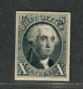 US Sc#4p4 M/VF, Plate Proof On Card, Cv. $250