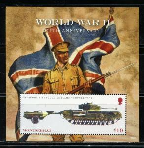 MONTSERRAT 2019  75th ANNIVERSARY OF WORLD WAR II  S/ SHEET  MINT NEVER   HINGED