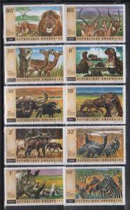 Rwanda 444-53 Wild Animals Mint NH