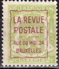 Belgium; 1937: Sc. # 265; PreCancelled Advertising Single Stamp