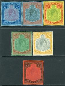 BERMUDA : 1938-53. Stanley Gibbons #116-21 Very Fine, Mint OGH. Catalog £270.00