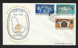1968 Barbados Girl Guides Scouts Golden Jubilee FDC