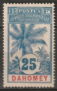 Dahomey 1906 Sc 23 MH* some disturbed gum