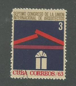 1963 Cuba Scott Catalog Number 807 Used