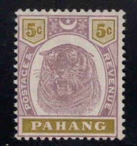 MALAYA-Pahang Scott 15 Mint Hinged, MH* 1895 scarce Tiger stamp.