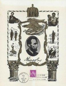 1036c 4c ABRAHAM LINCOLN - Linn's Souvenir Sheet