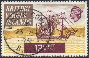 British Virgin Islands 1970 12c HMS Nymph,1778 used