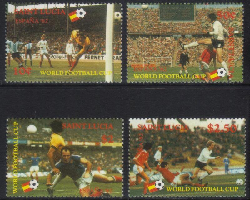ST LUCIA 1982 WORLD CUP MNH SET OF 4