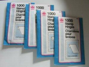 Uni-Safe  4 x 1000 Stamp Hinges Unopened