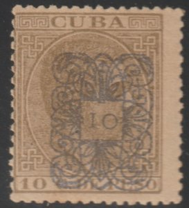 1883 Cuba Stamps Sc 113d  King Alfonso Spain Surcharged NEW
