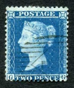 SG35 2d (GG) Plate 6 Wmk Large crown perf 14 cat 70 pounds