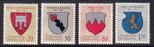 Liechtenstein  #386-389  MNH  1964  Coat of Arms
