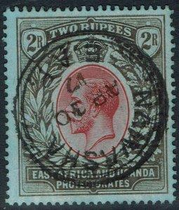 EAST AFRICA AND UGANDA 1912 KGV 2R WMK MULTI CROWN CA USED