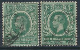 East Africa & Uganda Protectorate Used - SG 45 & 45a SC#41 - see details