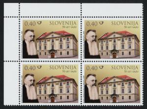 Slovenia 751 TL Block MNH Slovenian Academy of Arts & Sciences