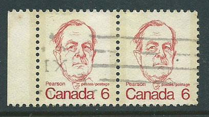 Canada SG 698  Fine Used pair with margin