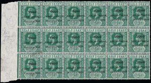 Togo Scott 66-66 Variety Gibbons 34-34e Block of Stamps